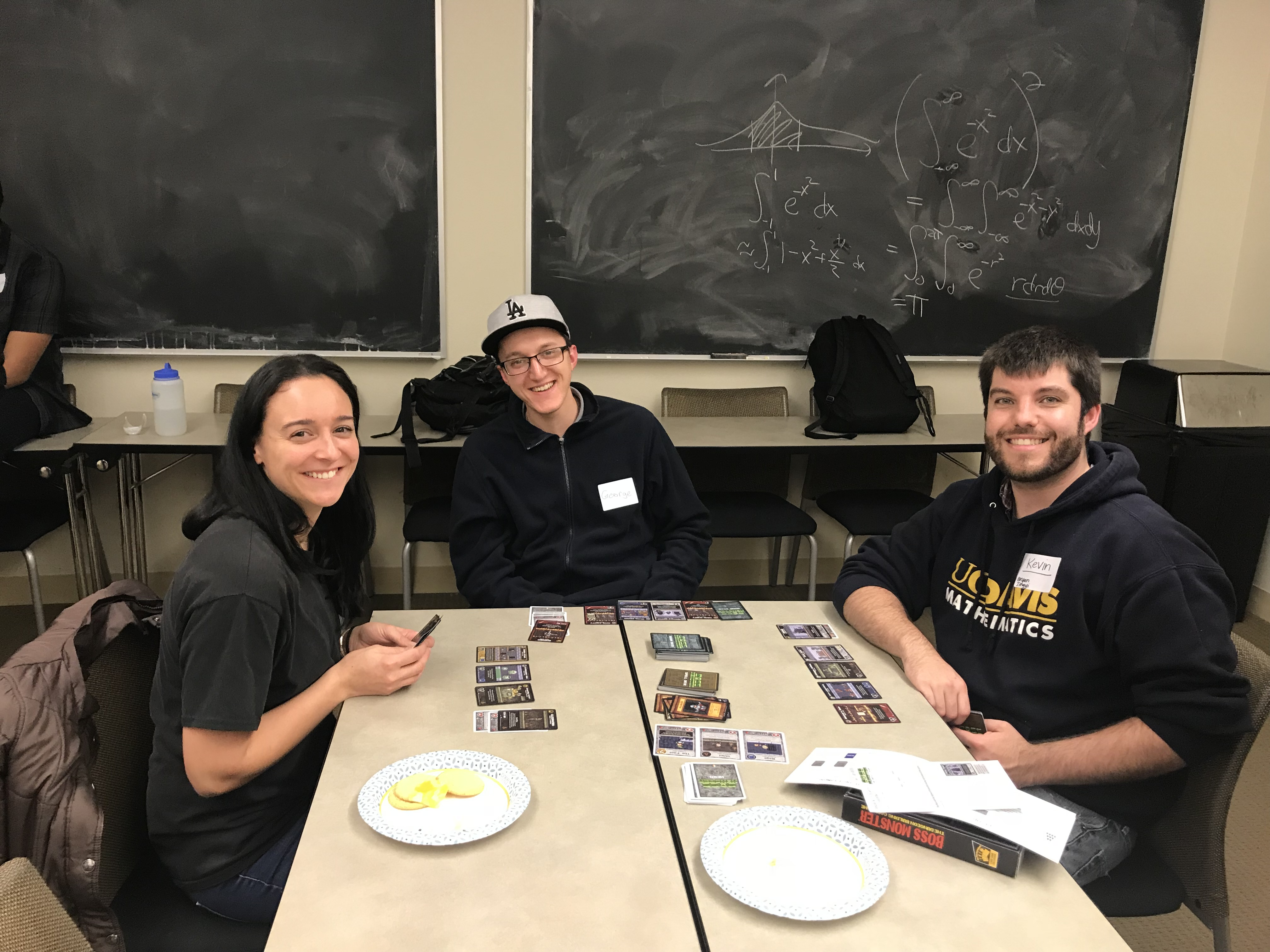 AWM members playing a card game at the 2018 Winter Social.