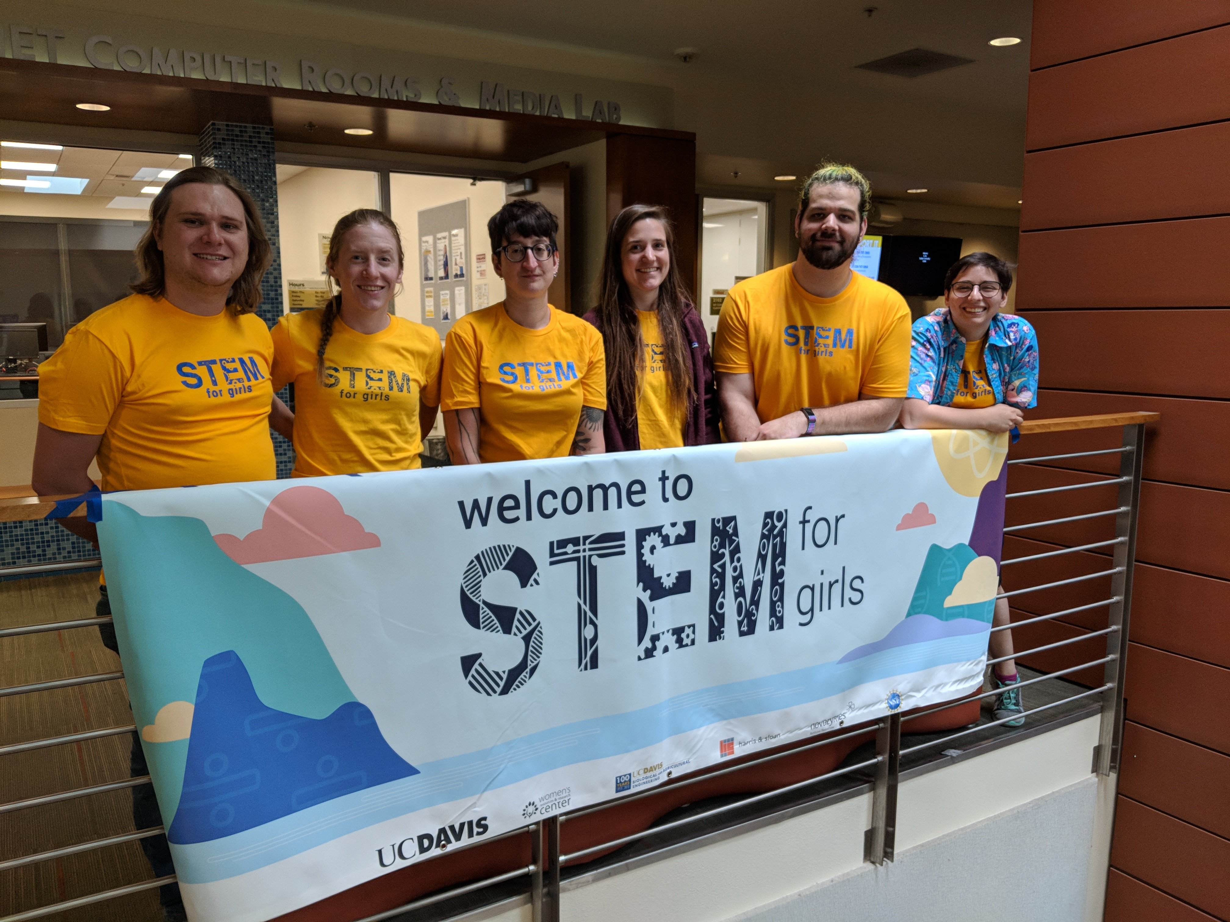 AWM members at STEM for Girls, May 2018.